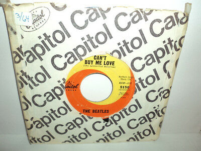 """THE BEATLES CAN'T BUY ME LOVE / YOU CAN'T DO THAT 1964 CAPITOL 5150 7"""" 45"""