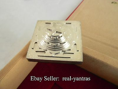 Accurate and Precise 3D SILVER PLATED MAHA MRITYUNJAY YANTRA