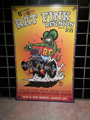 2013  11th ANNUAL  RAT FINK REUNION POSTER  --  ED BIG DADDY ROTH MEMORIAL