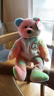 'Peace' the Bear - Ty Beanie Baby - MINT - RETIRED