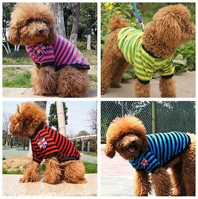 Pet Puppy Dog Cat Summer T Shirt Small Dog Clothes Apparel Costumes Size S-XXL