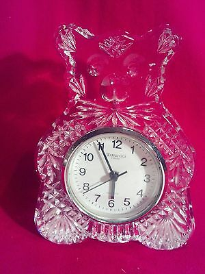 Waterford Crystal, Teddy Bear Clock w/ New Battery