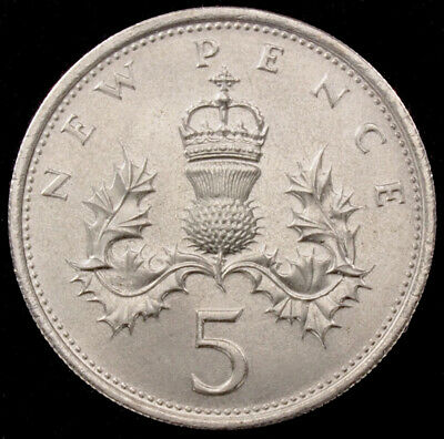 GB Large 5 Pence (Choose the Year) Very Fine or better