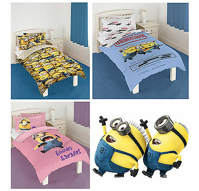 Official Despicable Me 2 Minions Single Bedding Duvet Quilt Cover Set Brand New