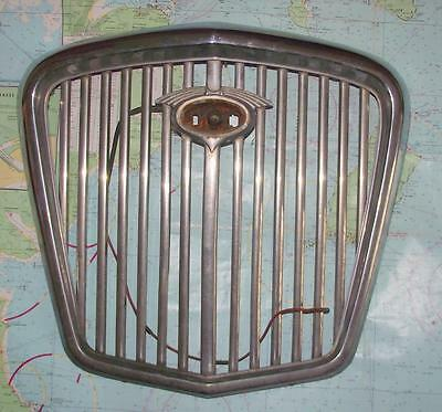 Old Modernist Art Deco Chrome Wolsely Radiator Grille - Superb Wall Hanging