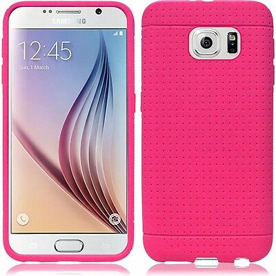 Samsung Galaxy S6 Pink Slim Flexible Rubber Gel Silicone Case Cover
