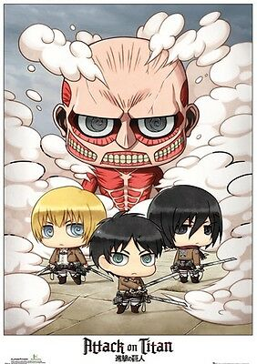Official Attack On Titan Chibi Group Maxi Poster Anime Manga Cartoon Wall Art