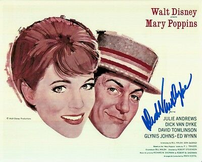 DICK VAN DYKE hand-signed MARY POPPINS 8x10 w/ uacc rd coa JULIE ANDREWS CLASSIC