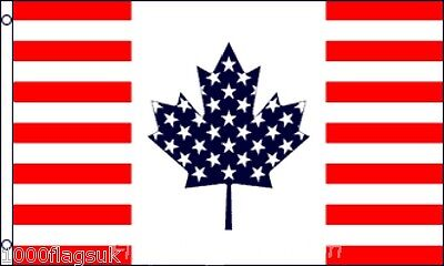 United States of America USA and Canada Friendship 5'x3' Flag