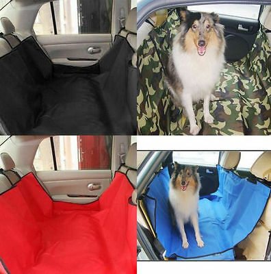 Pet Dog Cat Car Back Seat Cover Travel Hammock Auto Protector Liner BLACK