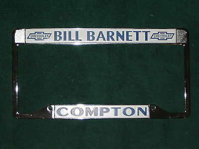 NEW BILL BARNETT COMPTON CHEVROLET CALIFORNIA LICENSE PLATE FRAMES