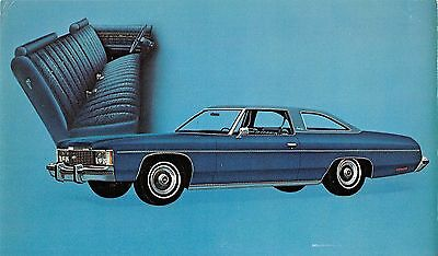 Chevrolet Impala Custom Coupe 1974 Advertising Vintage Postcard (J29233)