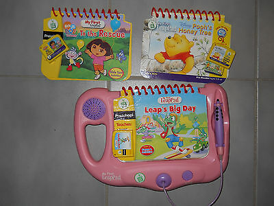 LeapFrog My First Leap Pad Pink & 3 books