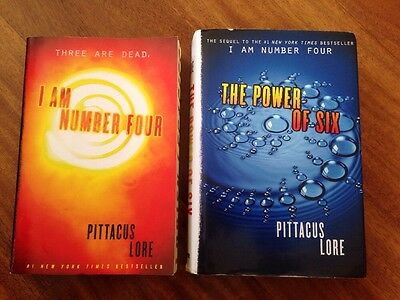 Lot 2 PITTACUS LORE Books I Am Number Four PB & The Power of Six HC Sci Fi Boys