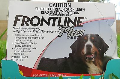 Frontline Plus For  Dog 89-132 lbs 3 Doses Supply XL GUARANTEE  free shipping