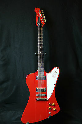 1995 Epiphone Firebird III Rare Vintage Red Electric Guitar World Wide Shipping