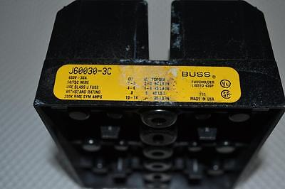 ONE NEW Bussman J60030-3C Fuse Holder 30A 600V
