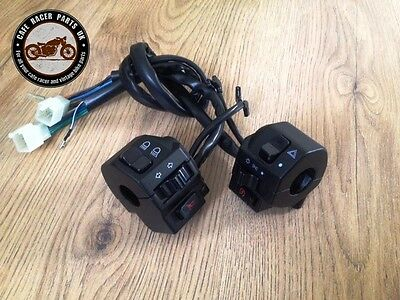 """Universal Bike Motorcycle Handle Bar Switch Gear Control 22mm 7/8"""" Cafe Racer"""