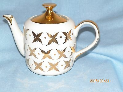 Vintage Arthur Wood cream and gold teapot