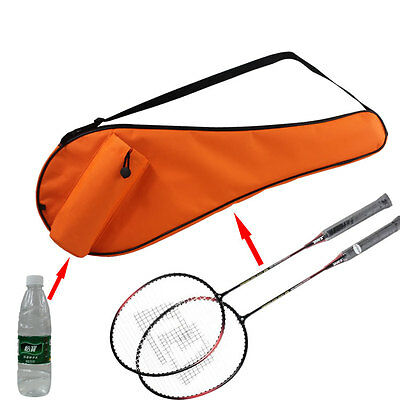 Badminton Shuttlecock Waterproof Racquet Oxford Bag Case Carry Bottle With Strap