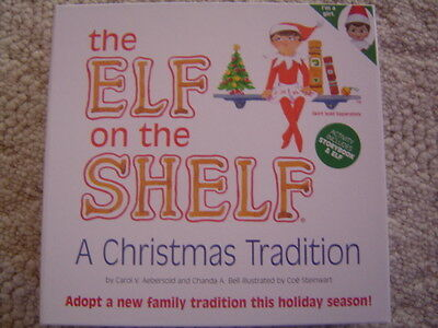 NIB The Elf on the Shelf A Christmas Tradition with  Blue Eyed  GIRL Book