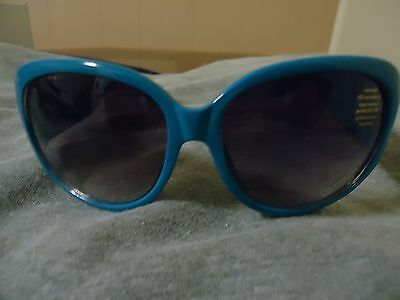 New Women's Cat Eye Sunglasses Blue and Silver 100% UV400 Protection