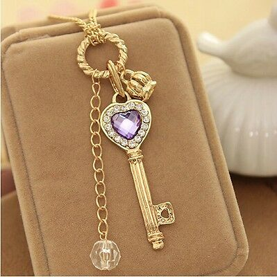 Free Shipping Womens 9K Yellow Gold Filled AAA CZ Necklace with Pendant Y-B575-b