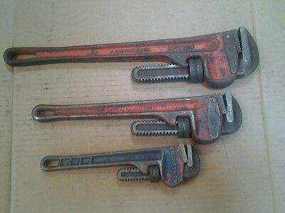 Pipe Wrenches set of Three 10in., 14in., 18in.