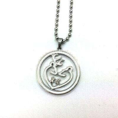 2015 HOT Browning Deer Necklace 70CM 1PCS white Pendants Chain Necklace !!