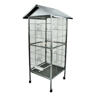 Pet Bird Cage Large Parrot Cockatiel Parakeet Finch Crate Feeder Perch New