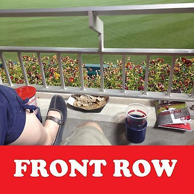 2 Front Row AISLE Washington Nationals Tickets vs New York Mets 4/9/15