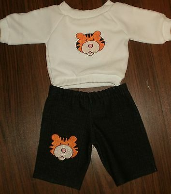 """New Handmade Doll Clothes for 16 """"-18"""" Cabbage Patch Doll T-Shirt & Jeans Tiger"""