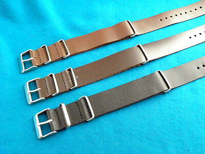 LEATHER BRITISH MILITARY SPECIFICATION G-10 STYLE WATCH BANDS, FREE US SHIPPING!