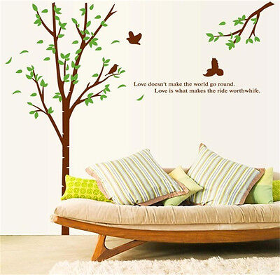 Huge Bird Tree Wall Stickers Vinyl Decals Home Decor Art Mural Quote living ROOM