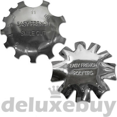SET: Edge Trimmer Easy French SMILE CUT + POLY TIPS - Schablone Acryl Modellage