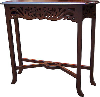 CLEARANCE Solid Mahogany Fretwork Console Table H76 x W83cmx  D27cm NEW TO33