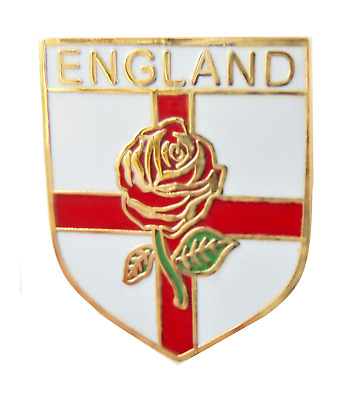 England St George Rose Shield Pin Badge - T1097