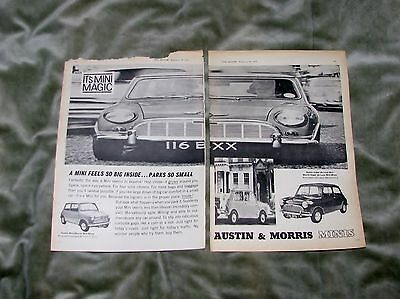 1963 Austin & Morris Mini Black & White Magazine Advert