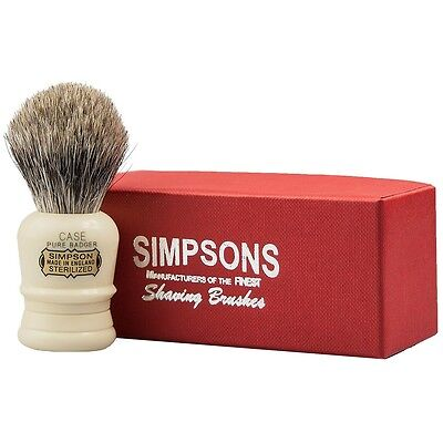 Simpsons Case Shaving Pure or Best Badger Shaving Brush