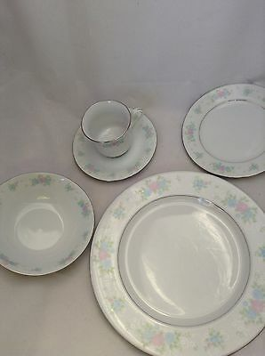 5 Piece China Garden Prestige Place Setting Plates Cup Saucer Bowl