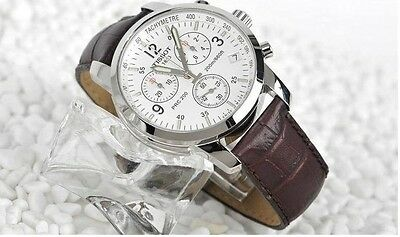 New! Leather Men Watch T-Sport Chronograph T17.1.516.32 PRC200 Watch Watches