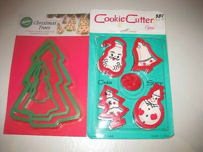 Vintage Christmas Cookie Cutters - New - Lot of 2