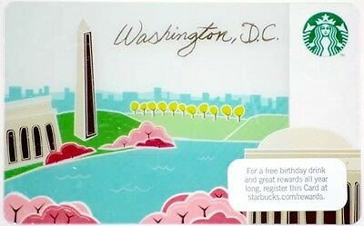 STARBUCKS USA 2012 CHERRY BLOSSOMS Washington DC Gift Card Mint! Free Ship