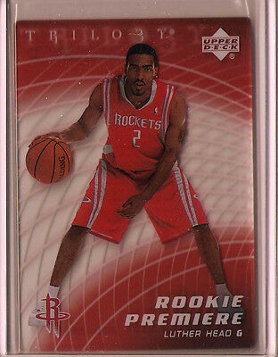 2005-2006 Upper Deck Trilogy Luther Head Rookie Card  #'d /999