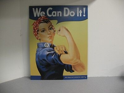 "Rosie The Riveter ""We Can Do It"" Tin Sign Replica--Nostalgic Rep."