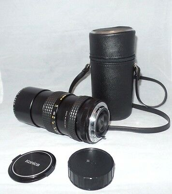 Konica Zoom Multicoated 1: 4.5 80-200 mm Tristar Lens 55mm PK W/ Case Photo