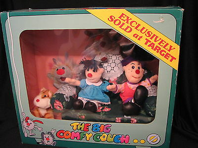 1997 The Big Comfy Couch Mini's Plush Set  in Box Exclusively Sold at Target