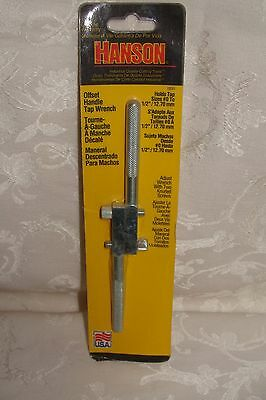"""Hanson Offset Handle Tap Wrench #0-1/2"""" #12021 New In Package"""