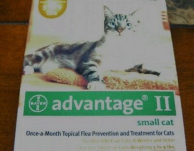 Advantage II  4 Month Supply Doses For Cats Kittens 5 - 9  Lbs