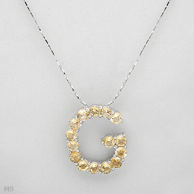 """Necklace made in sterling silver 925 with initial """"G"""" PENDANT."""